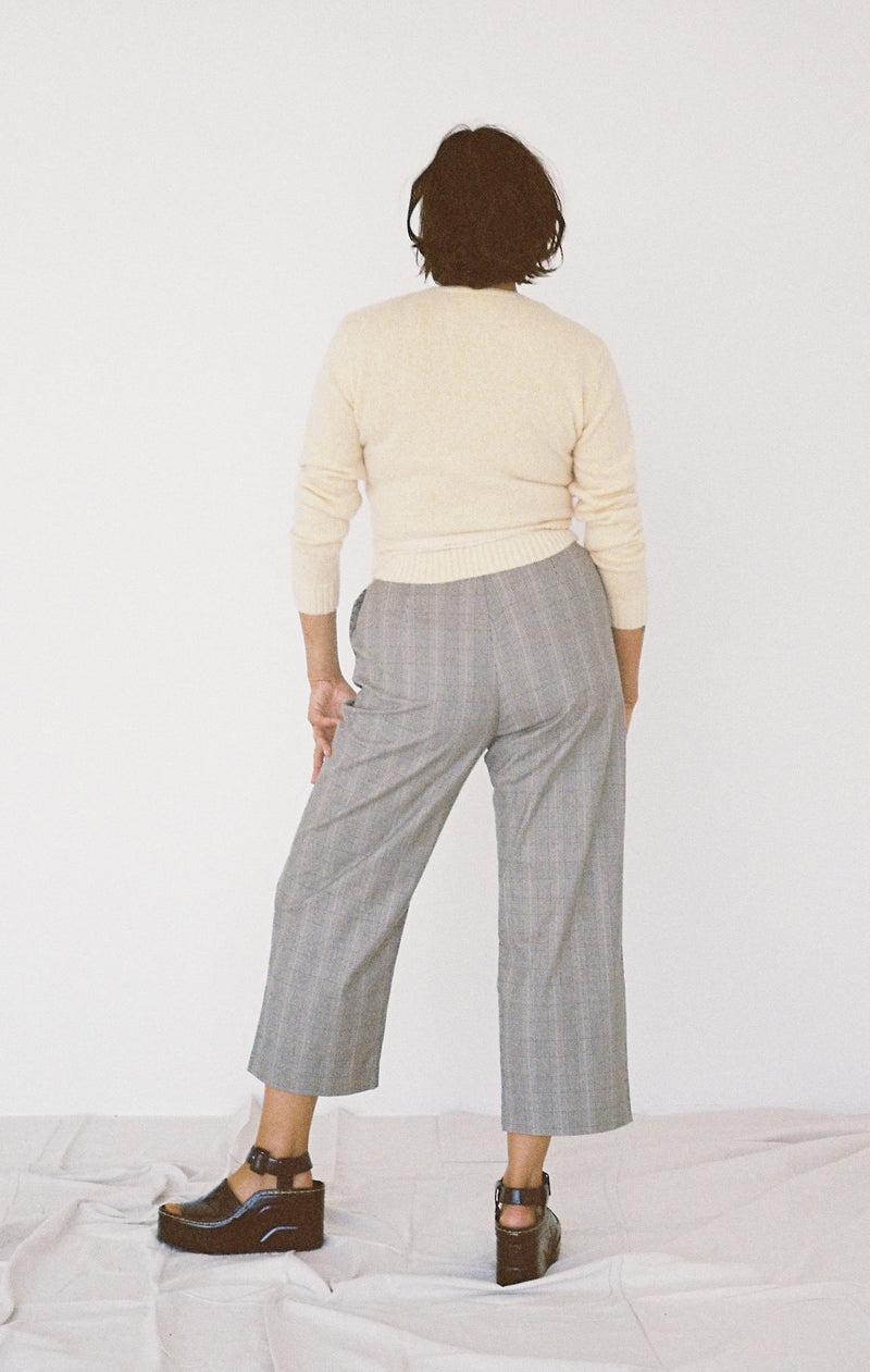 Holly Pant - Tan Check