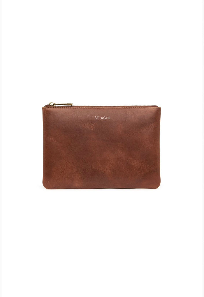 Kanta Leather Clutch - Antique Tan