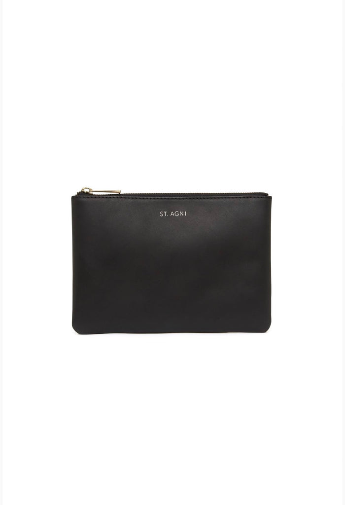 Kanta Leather Clutch - Black