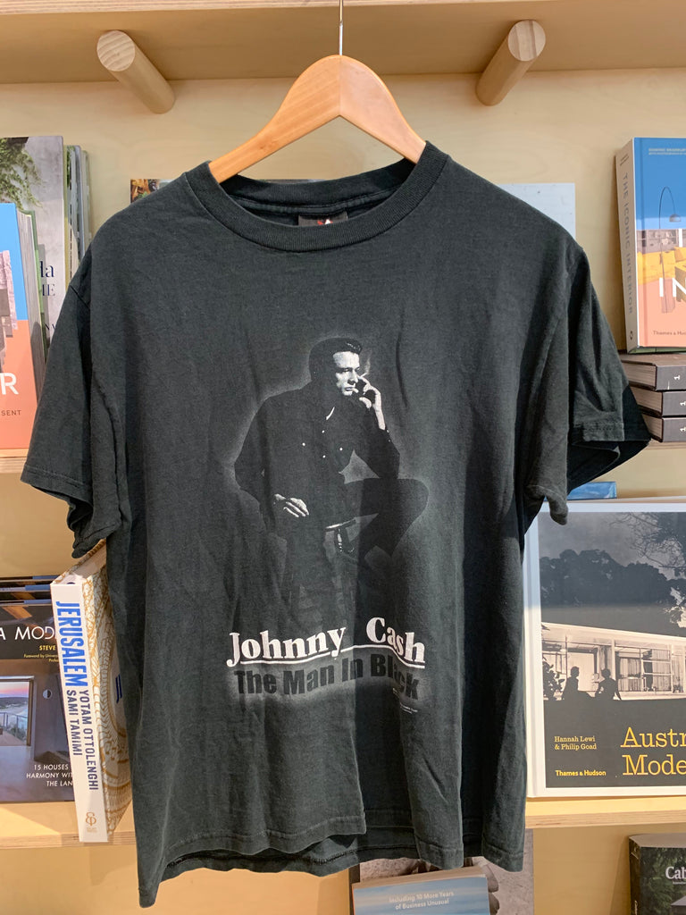 Johnny Cash The Man in Black Vintage Tee - Black