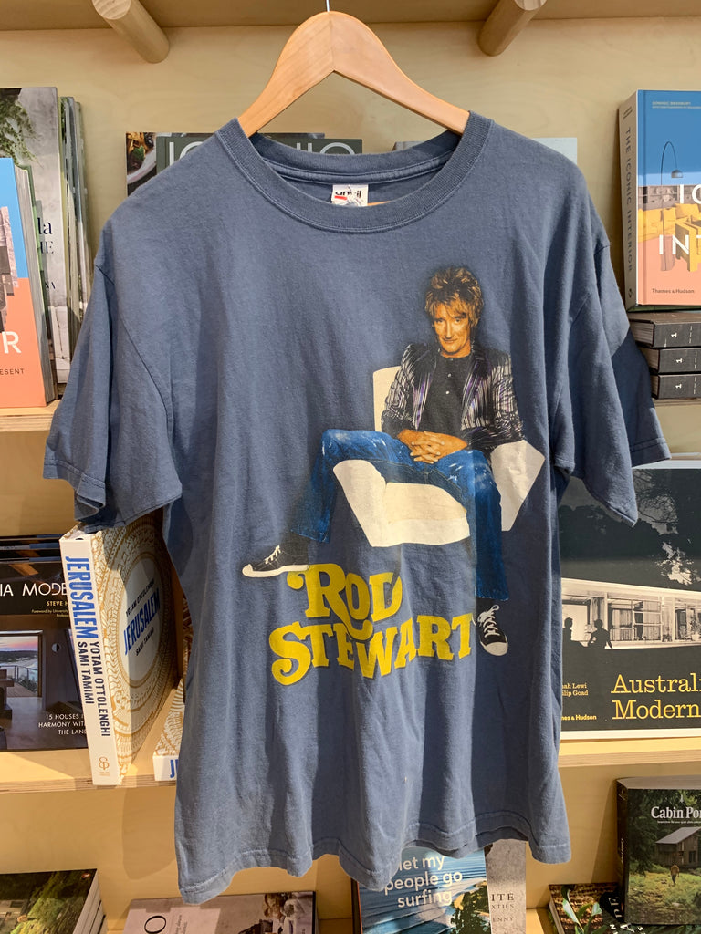 Rod Stewart 2008 Tour Vintage Tee - Blue