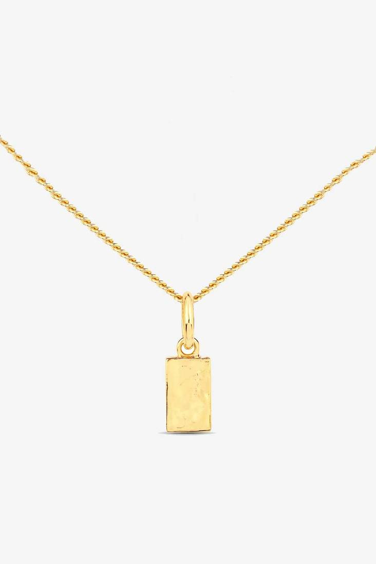 Ingot Necklace  - 14k Vermeil