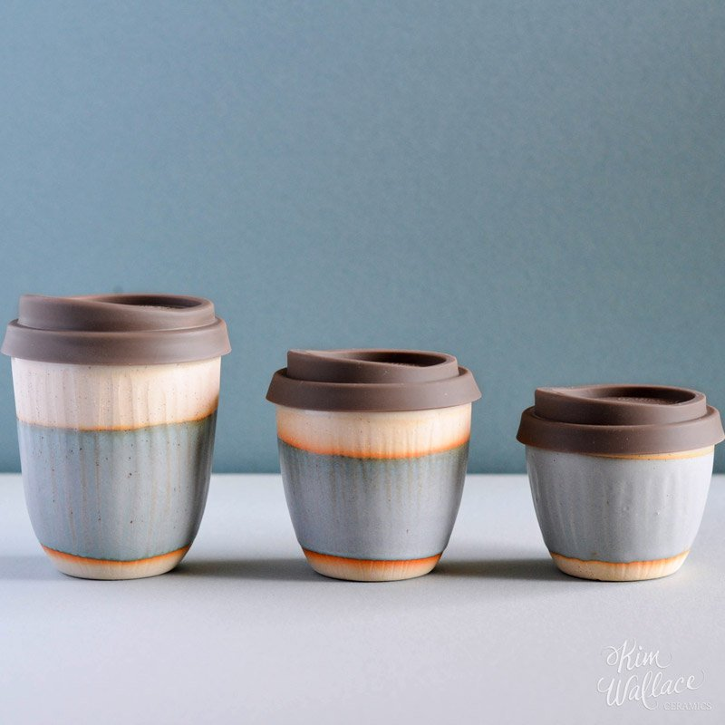 Reusable Takeaway Cup 6oz - Bluegum on Stone