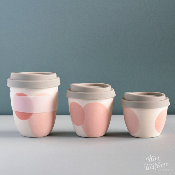 Reusable Takeaway Cup 12oz - Blush Pink