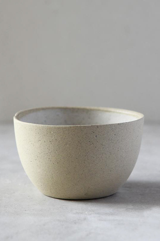 Tea Bowl - White on Stone