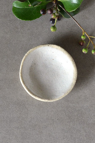 Tiny Bowl - White on Stone