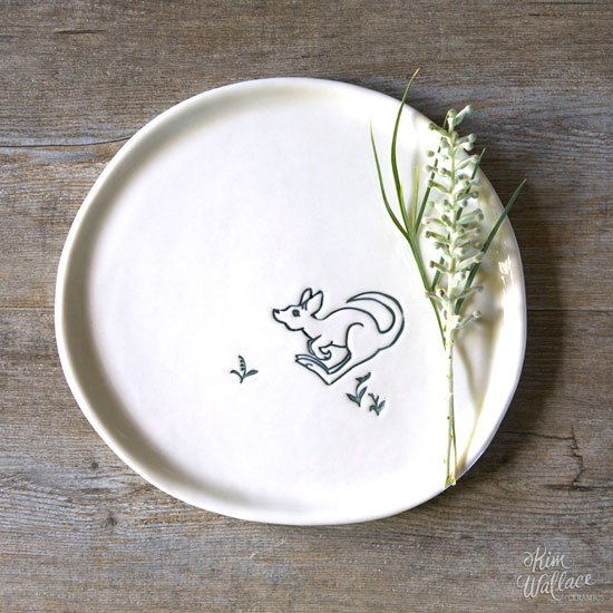 Bush Prints Porcelain plate - Little Roo