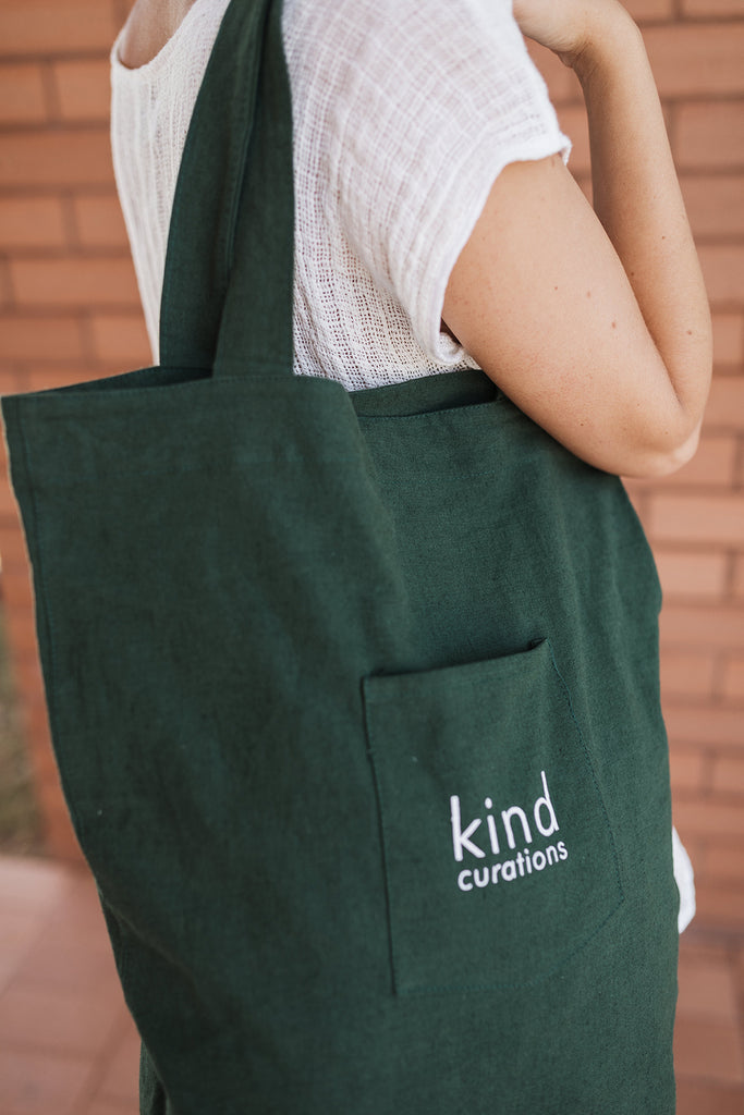 Kind x Worktones Daily Tote - Dark Green