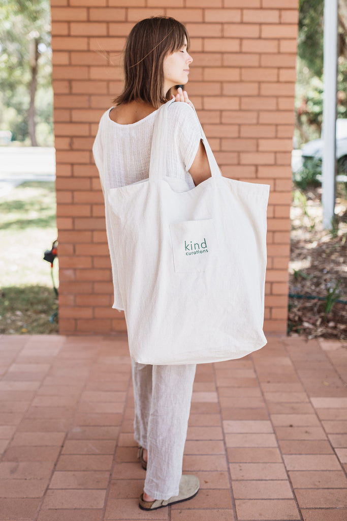 Kind x Worktones Oversized Market Bag - Natural