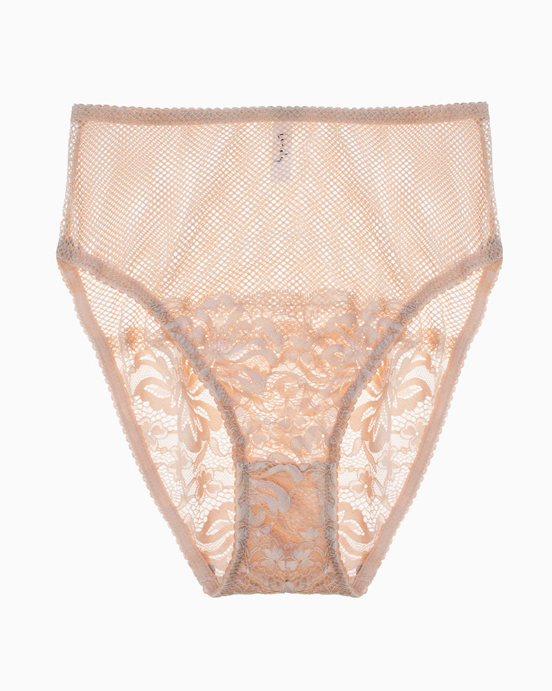 Lena High Waist Brief - Biscuit