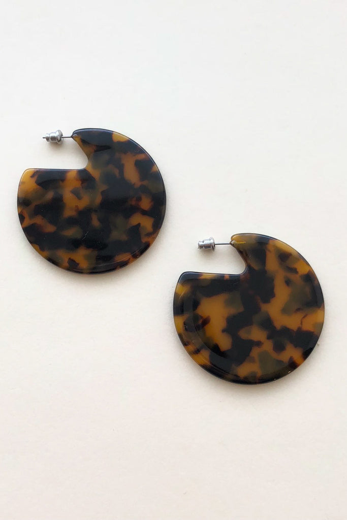 Clare Earrings - Tortoise