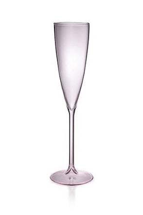 2 Champagne Flutes - Pink