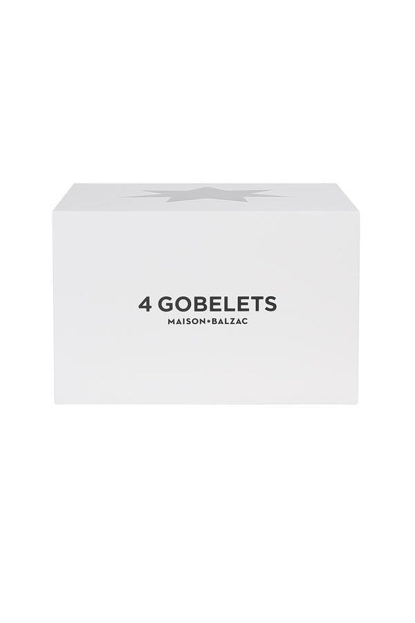 4 Medium Gobelets - Clear