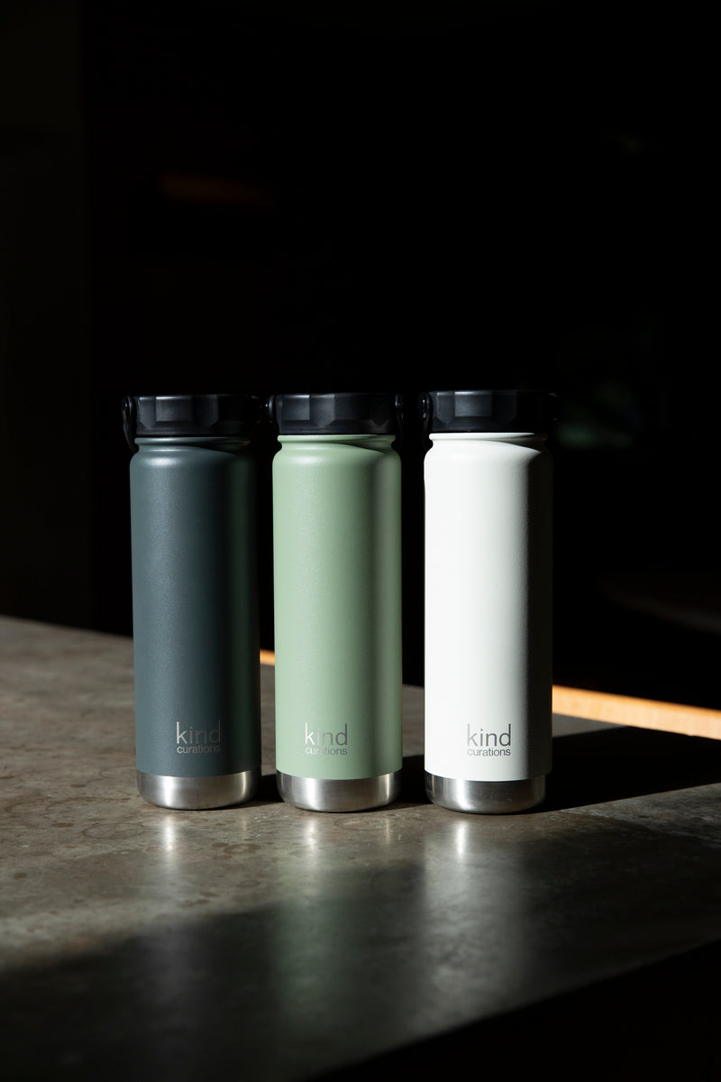 Kind Curations 750ml Insulated Water Bottle - Eucalypt Green