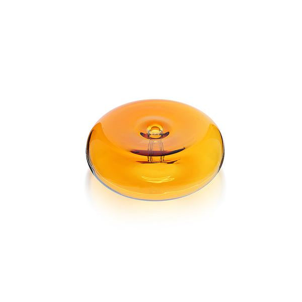 The Glass Pebble Incense Holder - Amber
