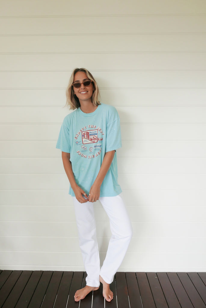 Palisades 1990 Refout Vintage Tee - Light Blue