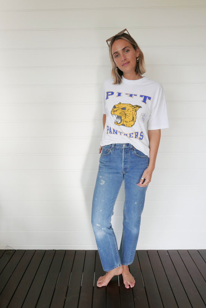 Pitt Panthers Vintage Tee - White