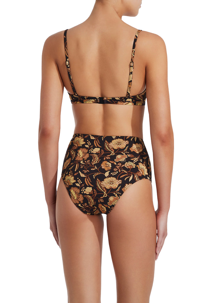 The High Waist Brief - Ginger Hibiscus