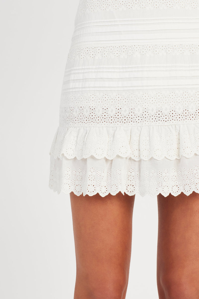 Dilone Embroidered Mini Dress