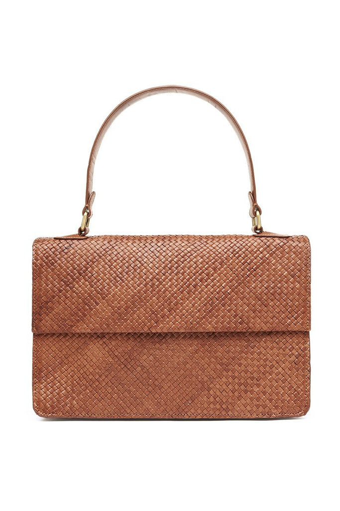 Yoli Woven Purse - Antique Tan
