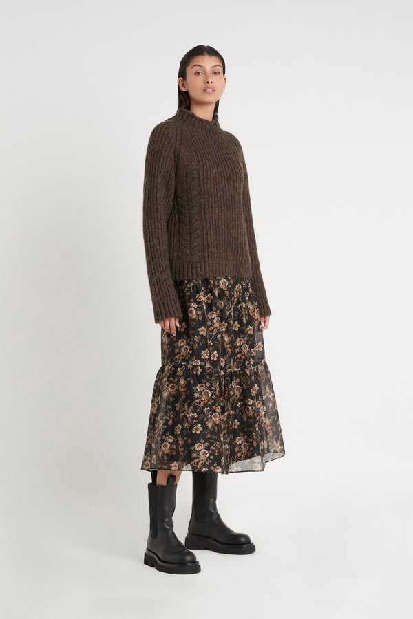 Matti Tuck Sleeve Sweater - Timber