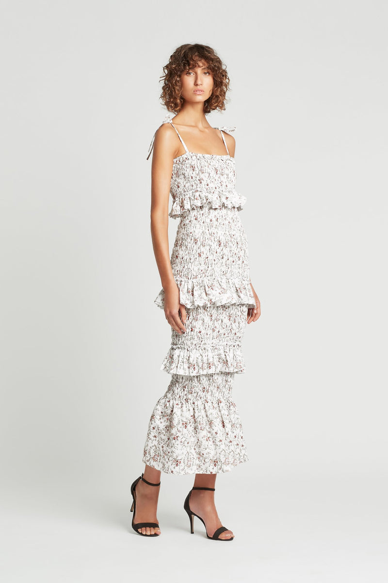 Haisley Ruched Midi Dress