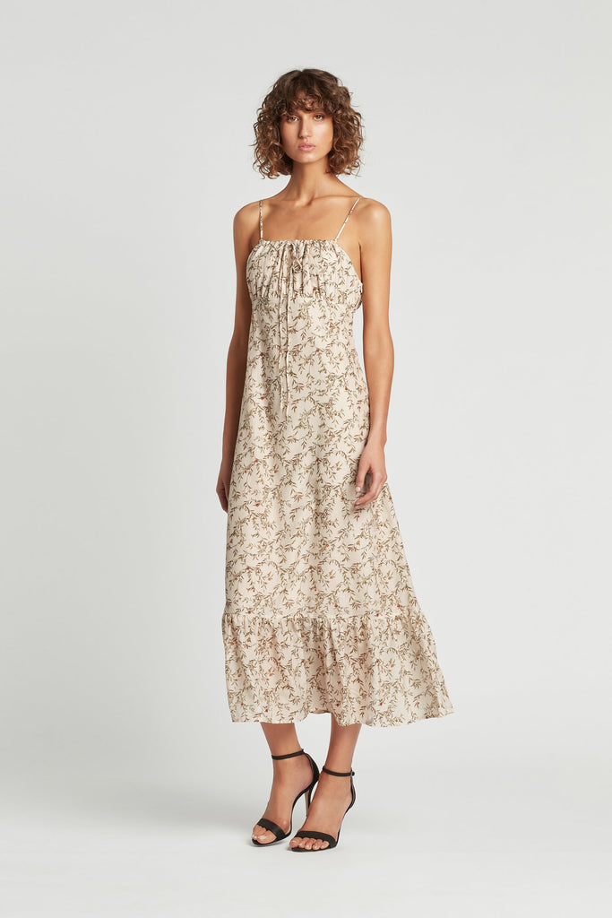 Annalie Tiered Maxi Dress-Alba Leaf Print