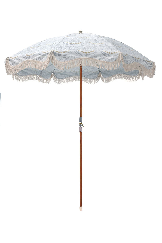 Premium Beach Umbrella - Slate Block Print