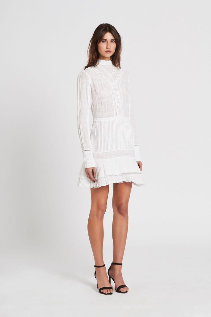 Lucille Embroidered Shift Dress - Ivory