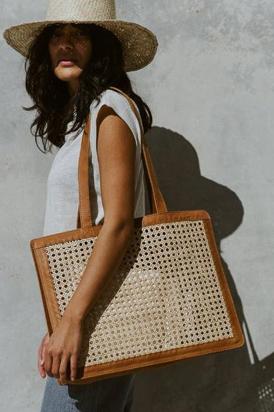 Hennie Market Rattan Bag - Tan