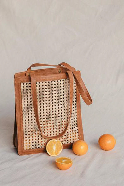 Hennie Everyday Rattan Bag - Tan