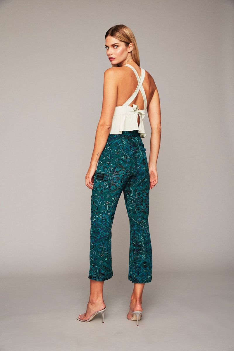 Isla Trousers - Green Carpet