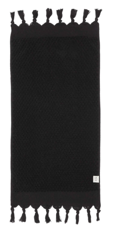 Rainbow Solids Hand Towel - Black