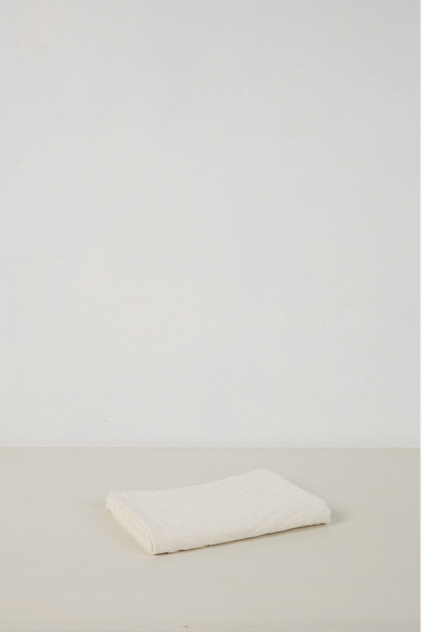 Virginia Organic Cotton Hand Towel - Ivory