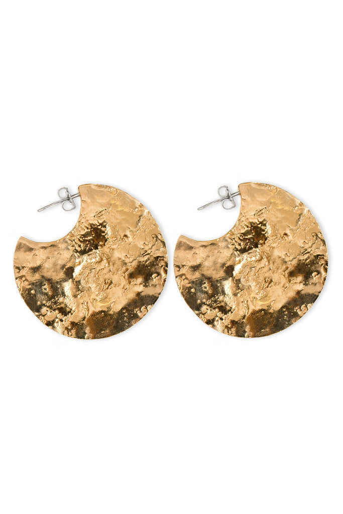 Crater Earrings - Gold