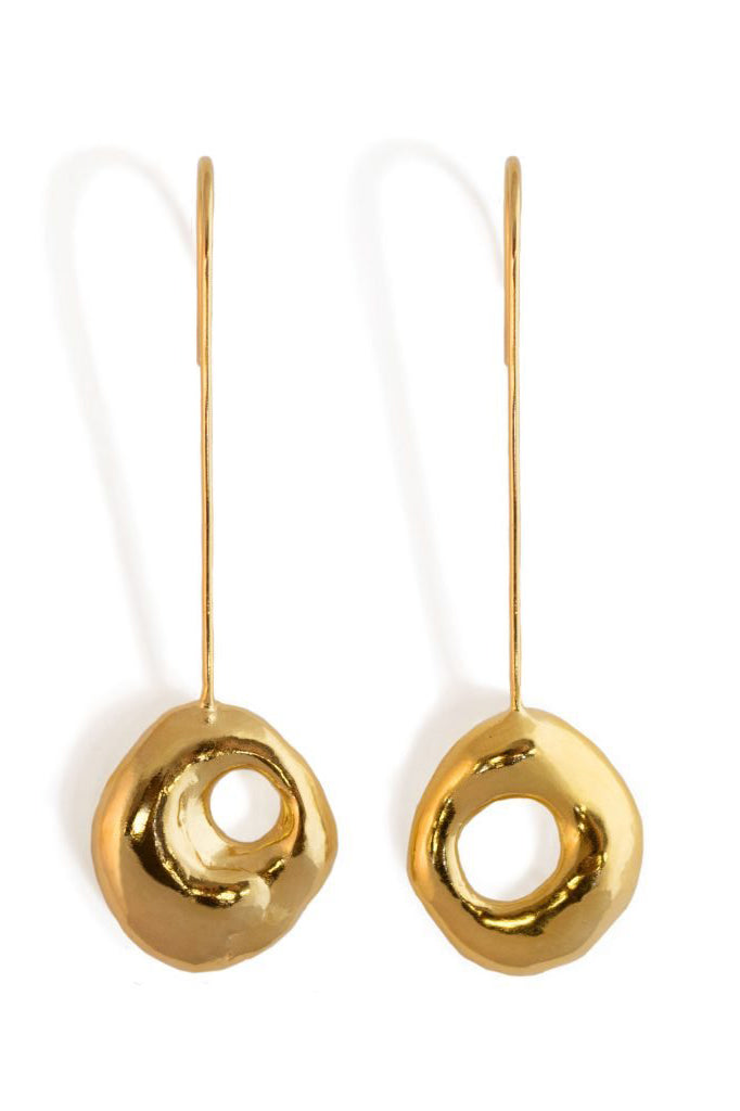 Fluid Drop Earrings – Gold