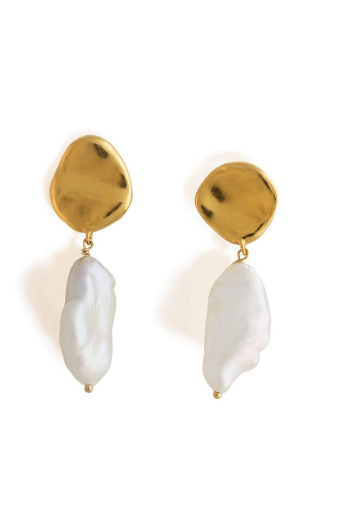 Freshwater Earrings – Gold