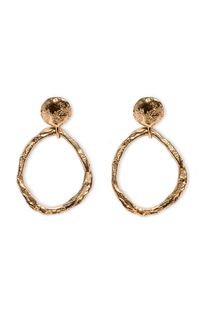 Geode Earrings - Gold