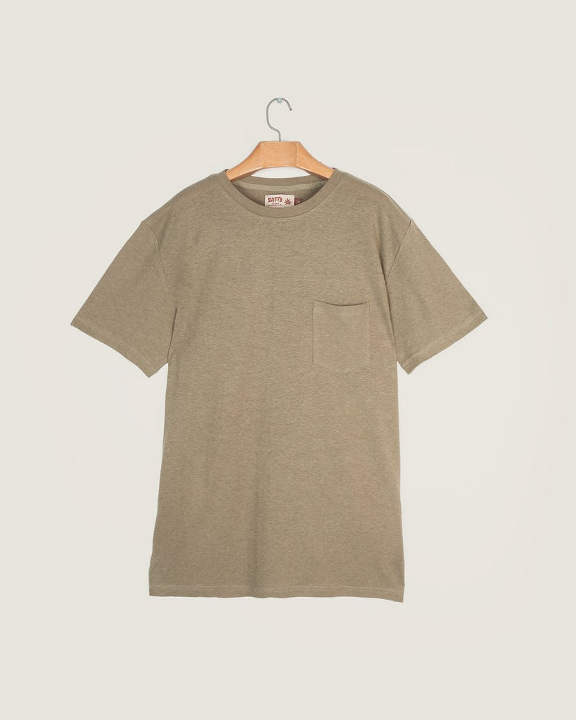Hemp Pocket T-Shirt - Seafoam