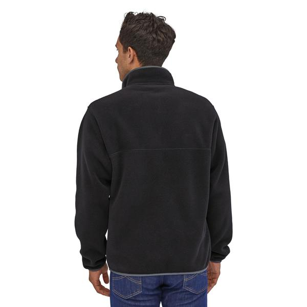 M's LW Synch Snap-T Pullover - Black w/Forge Grey