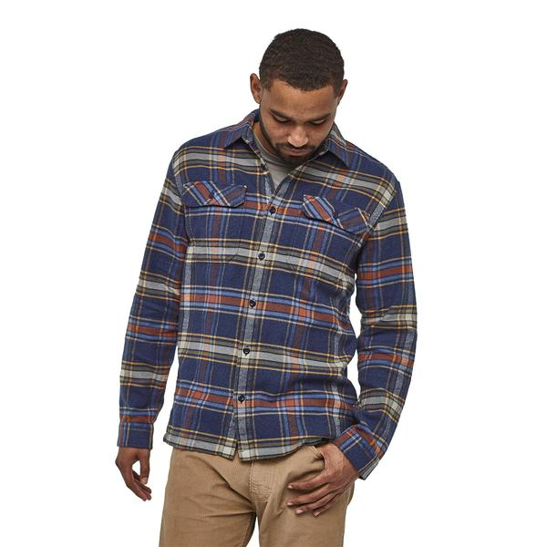 M's LS Fjord Flannel Shirt - Defender New Navy