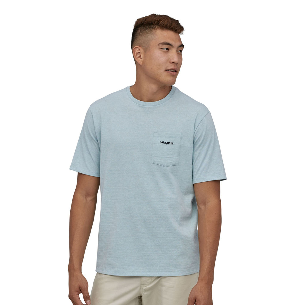 M's Line Logo Ridge Pocket Responsibili-Tee - Big Sky Blue