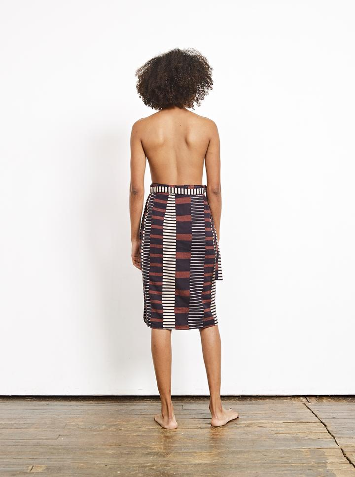 Reversible Wrap Skirt - Lockwood/Cheshire