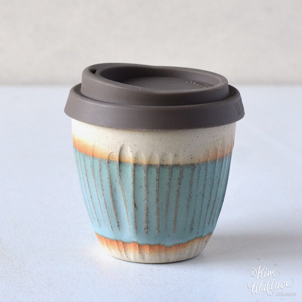 Reusable Takeaway Cup 8oz - Bluegum on Stone