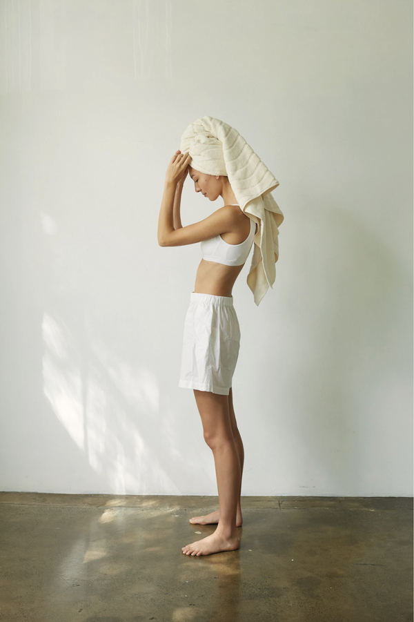 St Clair Organic Cotton Bath Towel - Ivory