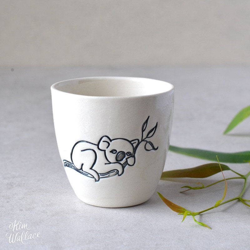 Bush Prints Porcelain Cup (Medium) - Koala