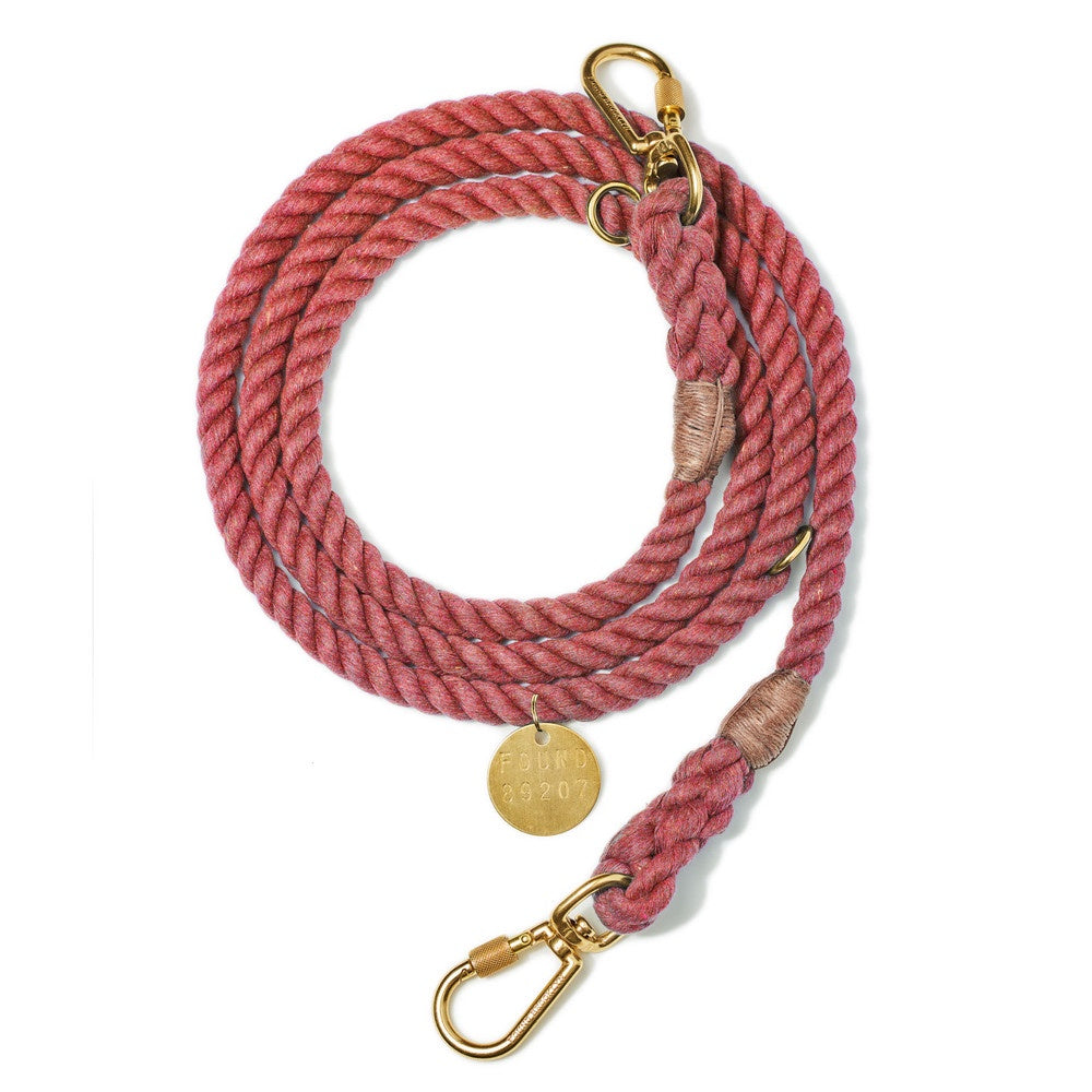 Up-Cycled Rope Leash - Nantucket Red