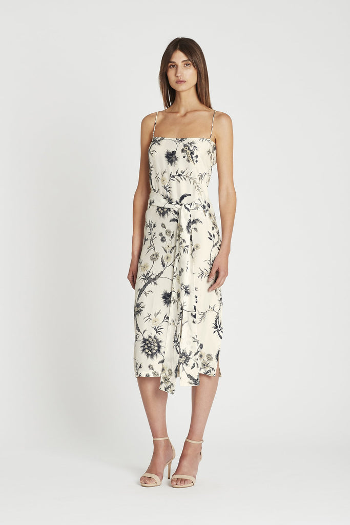 Mathilde Wrap Dress - Bouton D'or Fleur Print