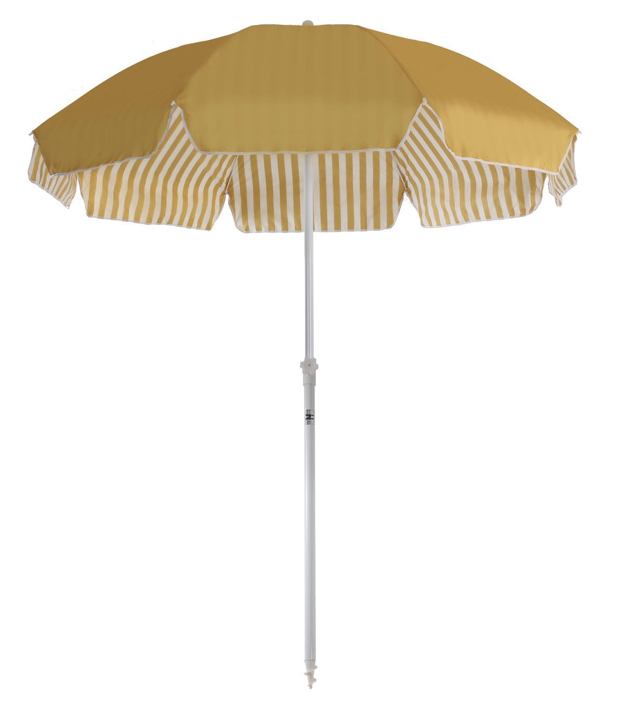 Family Beach Umbrella- Gold stripe