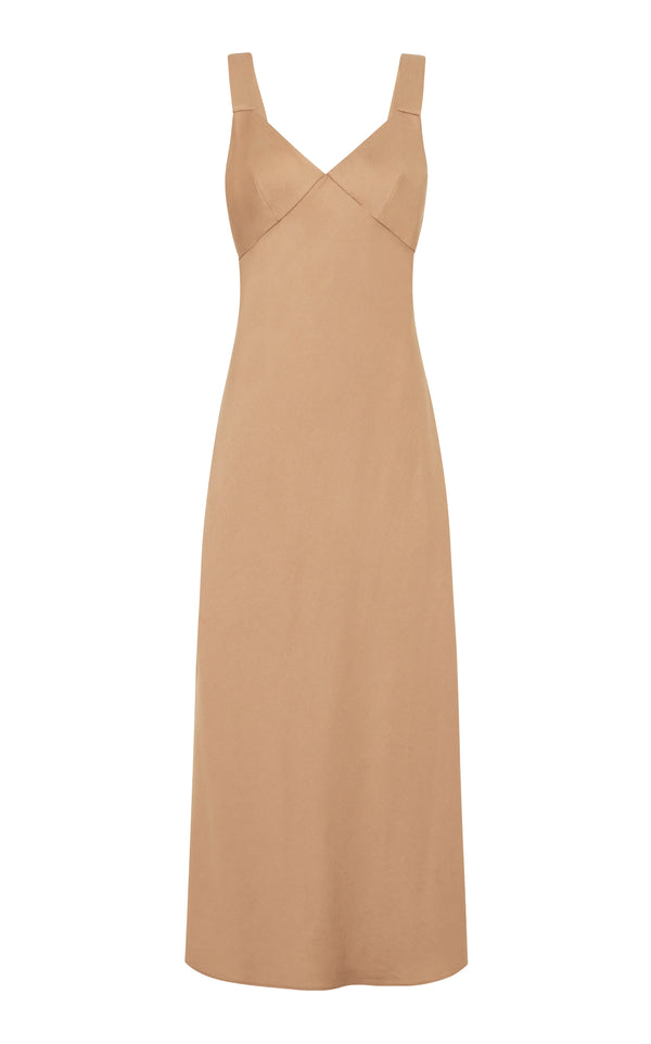 Zoe Slip Dress - Caramello